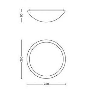 Philips Ballan, Maße: 26 cm x 26 cm, rund, Rand mit Sonnenstrahlenmuster