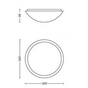 Ballan, Maße: 26 cm x 26 cm, rund, schlichter Rand