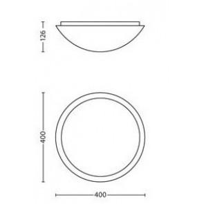 Ballan, Maße: 40 cm x 40 cm, rund, Rand mit Sonnenstrahlenmuster