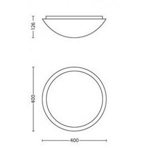 Ballan, Maße: 40 cm x 40 cm, rund, schlichter Rand