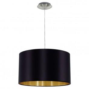 Maserlo, Ø 38 cm, schwarz-gold