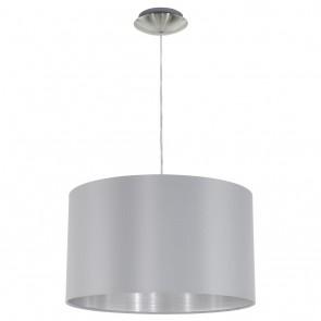 Maserlo, Ø 38 cm, Grau-Silber