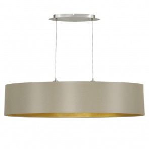 EGLO Maserlo, Länge: 100 cm, taupe-gold
