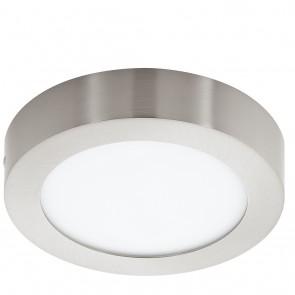 Fueva 1, LED, Ø 17 cm, Höhe 4 cm, 4000K, nickel-matt