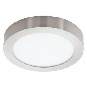 Fueva 1, LED, IP20, Ø 22,5 cm, nickel-matt