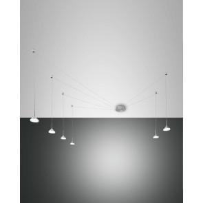 Isabella LED, Nickel satiniert/chrom/Aluminium, Acrylglas, satiniert, 4320lm, 48W