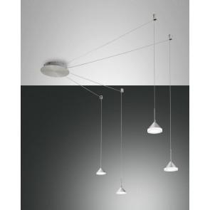 Isabella LED, Nickel satiniert/chrom/Aluminium, Acrylglas, satiniert, 2880lm, 32W