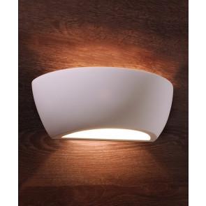 Netito Länge 24,5 cm weiß 2-flammig halbrund
