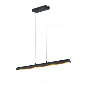 Ramiro 100 x 8,5 cm schwarz-matt/gold dimmbar