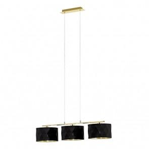 EGLO Dolorita, Höhe 150 cm, 3-flammig, schwarz/ gold
