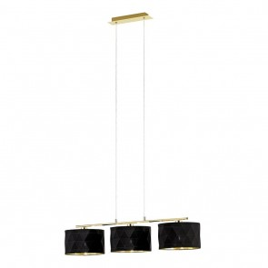 Dolorita, Höhe 150 cm, 3-flammig, schwarz- gold