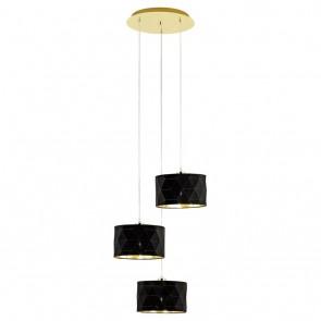 EGLO Dolorita, Höhe 150 cm, Rondell, schwarz/ gold