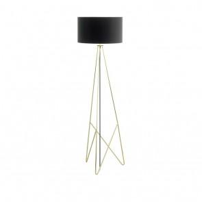 EGLO Camporale, Höhe 154 cm, messing/ schwarz/ gold