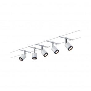 Wire System TubeLED, 5x4W, schwarz/weiß/chrom