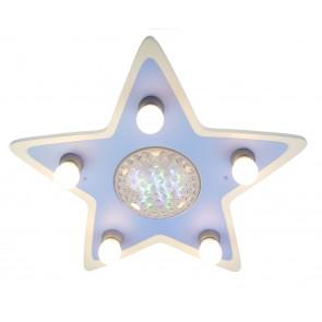 Deckenleuchte Happy-Star, RC, 4-farbig