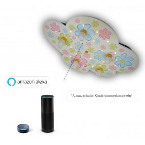 Deckenleuchte Wolke Bunte Blumen Amazon Echo kompatibel