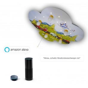 Deckenleuchte Wolke Autos Amazon Echo kompatibel