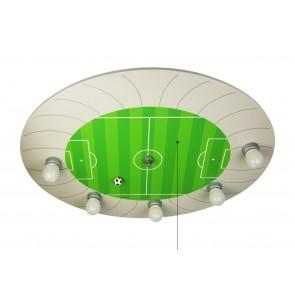 Deckenleuchte Fußball-Stadion, E14, mit Zugschalter, grün
