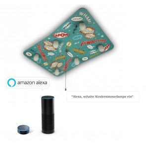 Deckenleuchte Comic Amazon Echo kompatibel