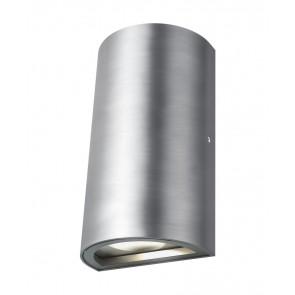 Endura Höhe 16 cm metallisch 1-flammig halbrund