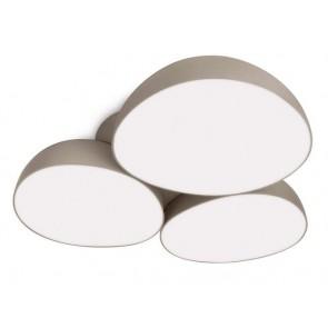 Stonez, LED, 44,4 x 44,4 cm, Grau