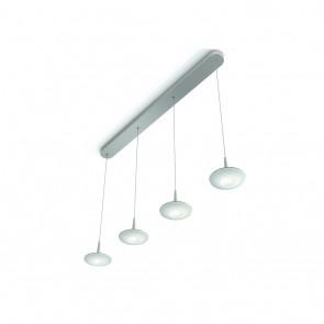 Attilio, LED, 4-flammig, Stahl gebürstet