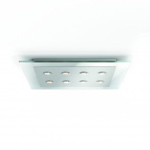 Philips INS Matrix LED-Deckenl 8-flammig, nickel 4000lm