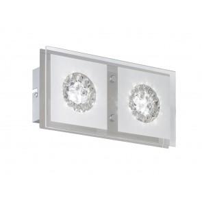 Reims, 2-flammig, Glaskristalle, inkl LED