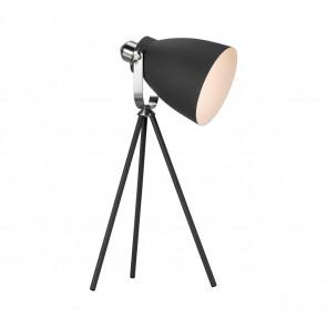 Largo, E27, IP20, Höhe 51,5 cm, schwenkbar, schwarz
