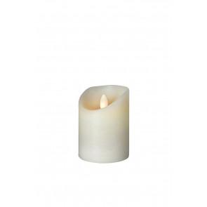 SHINE LED Kerze 7,5x10 elfenb, Echtwachs mit Timer, Fernbedienung exkl.