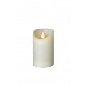 SHINE LED Kerze7,5x12,5 elfenb Echtwachs mit Timer, Fernbedienung exkl.