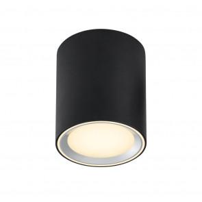 Fallon Long Ø 10 cm schwarz 1-flammig zylinderförmig