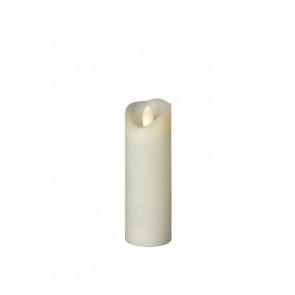 SHINE LED 5x17,5 elfenb schmal Echtwachs mit Timer, Fernbedienung exkl.