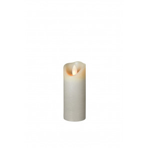 SHINE LED 5x15 grau schmal Echtwachs mit Timer, Fernbedienung exkl.