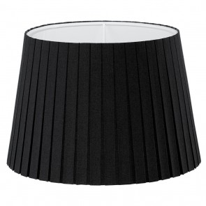 1+1 Vintage, Plissee, Ø 24,5 cm, E14, schwarz