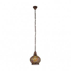 Jadida, Höhe 110 cm, Ø 20 cm, kupfer-antik/bunt