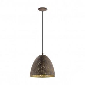 Safi, 1-flammig, Ø 27,5 cm, Braun-Gold
