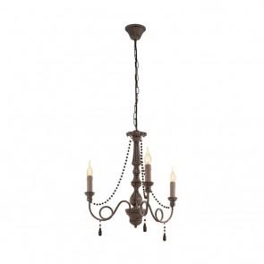EGLO Colchester, 3-flammig, Höhe 110 cm, taupe-antik