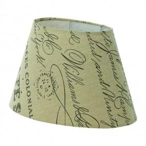 1+1 Vintage, L 25 cm, bedruckt, E27-E14, braun- weiß