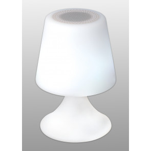 Deko-Leuchte mit Bluetooth Höhe 25,5 cm weiß 1-flammig rund
