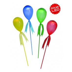 LED Deko-Solar Ballon 4er Set als Spieß oder hängend