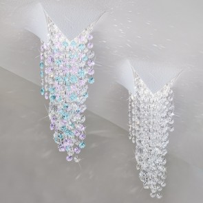 Fonte Di Luce Spot, Weiß matt, Kristall, LED dimmbar, Violet