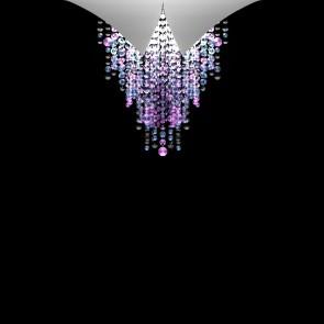 Fonte Di Luce DL, Weiß matt, Kristall, LED dimmbar, Violet
