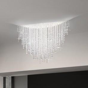 Fonte Di Luce DL, Weiß matt, Kristall, LED dimmbar, Clear