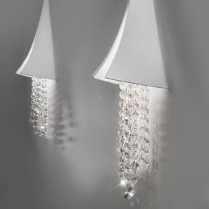 Fonte Di Luce WL, Weiß matt, Kristall, LED dimmbar, Clear