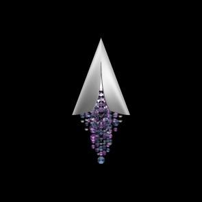Fonte Di Luce WL, Weiß matt, Kristall, LED dimmbar, Violet