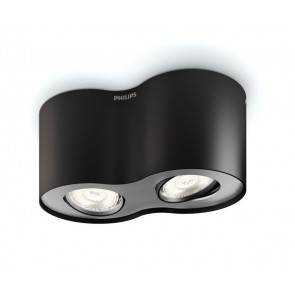 Phase, LED, 2-flammig, schwarz