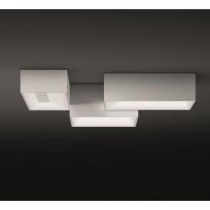Link, 95 x 80 cm, Dreiteilig, Weiß