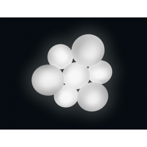 Puck 5447 DL, 7-flammig, LED, Weiss