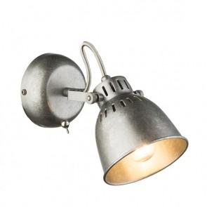 HERNAN Strahler Metall silver gray, 1xE14